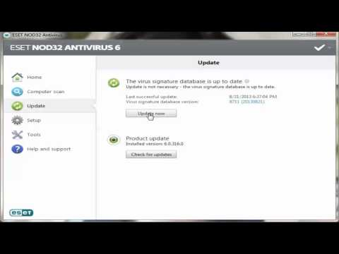 Eset Nod 32 antivirus Update Error : General compiler error FIX