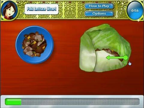 เกมส์ทำอาหาร ผักกาดแก้วยัดไส้เห็ดชิตาเกะ - lettuce wraps Cooking Game 生菜包裹,レタスラップ