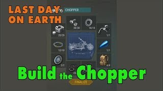 Video LDOE: How to Get the Chopper Motorcycle in Last Day on Earth Survival download MP3, 3GP, MP4, WEBM, AVI, FLV Oktober 2018