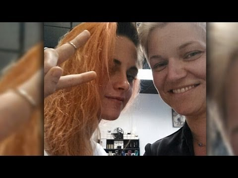 "Kristen Stewart Dyes Hair Orange for ""American Ultra"""
