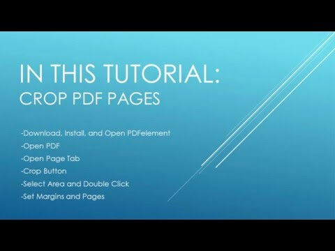 How To Crop PDF Files