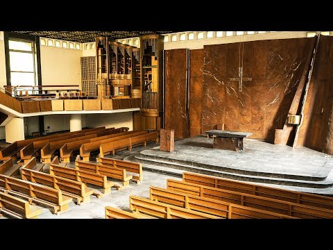 INSIDE AN ORGAN! Abandoned Modern Church Exploration - Urbex Lost Places Germany
