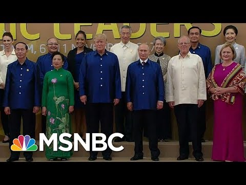 President Donald Trump Shakes Hands With Vladimir Putin At Asia Summit | Velshi & Ruhle | MSNBC