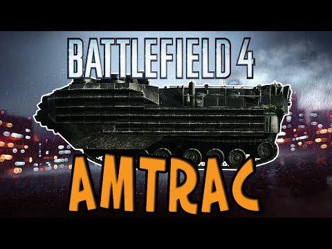 Battlefield 4 - AMTRAC Rush M-COM Defending GOD - BF4 AAV-7A1 AMTRAC Gameplay Killstreak