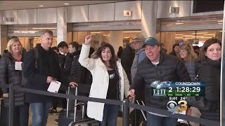 Eagles Fans Flocking To Airport To Get To Super Bowl