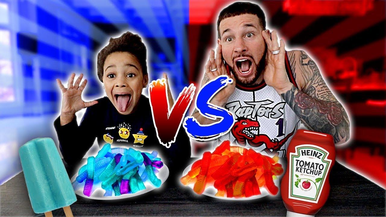 Download Red Food VS Blue Food Challenge   FamousTubeKIDS