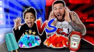 Red Food VS Blue Food Challenge | FamousTubeKIDS