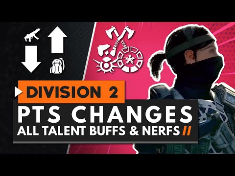 ALL NEW BUFFS & NERFS in First PTS Update | The Division 2