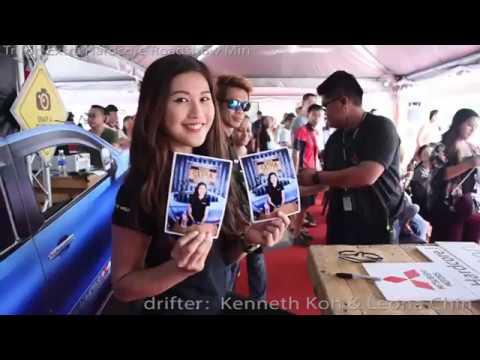 Leona Chin 利念娜 drift in Miri Malaysia mitsubishi roadshow