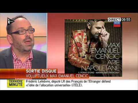 """Voluptueux Max Emanuel Cencic"" La Matinale de ITélé"
