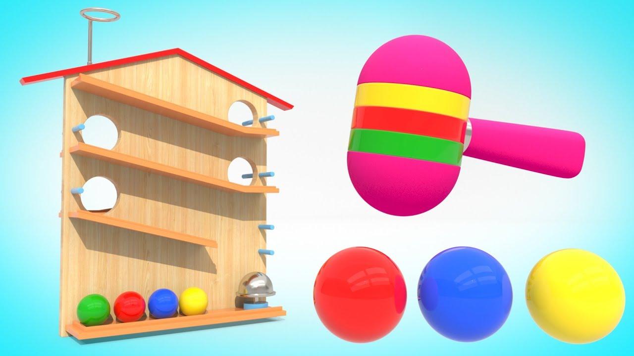 Изучаем цвета шарики