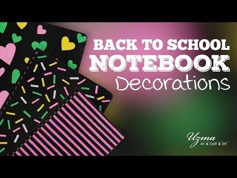 DIY Notebook Decorations | Back to School Supplies #backtoschool