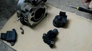 Hyundai Accent 2. Чистка дроссельной заслонки и РХХ. G4EC/G4EB