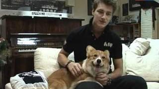 Алексей Воробьёв и его собака Элвис