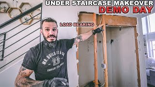 Under Staircase Makeover | DEMO DAY