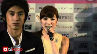 SNSD Tiffany speaks in English @ Press Conference in LA