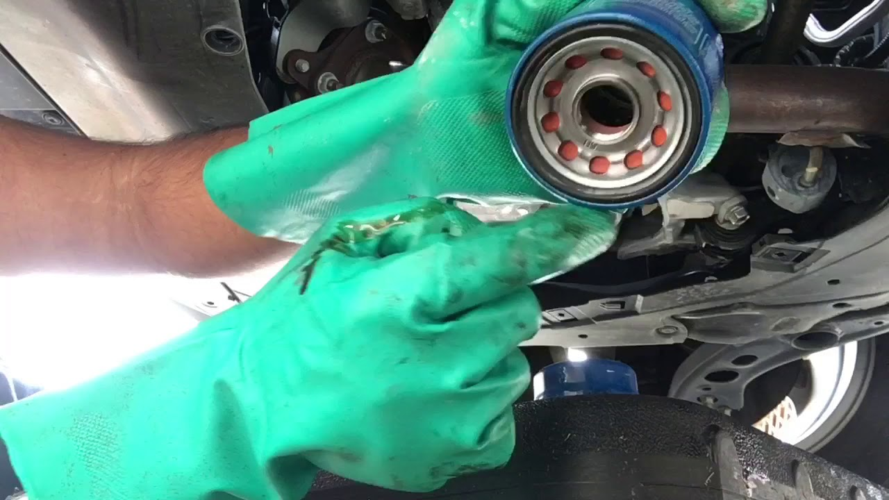 2018 Honda CRV Oil/Filter Change and Analysis - Oil dilution - Cut Open  Filter