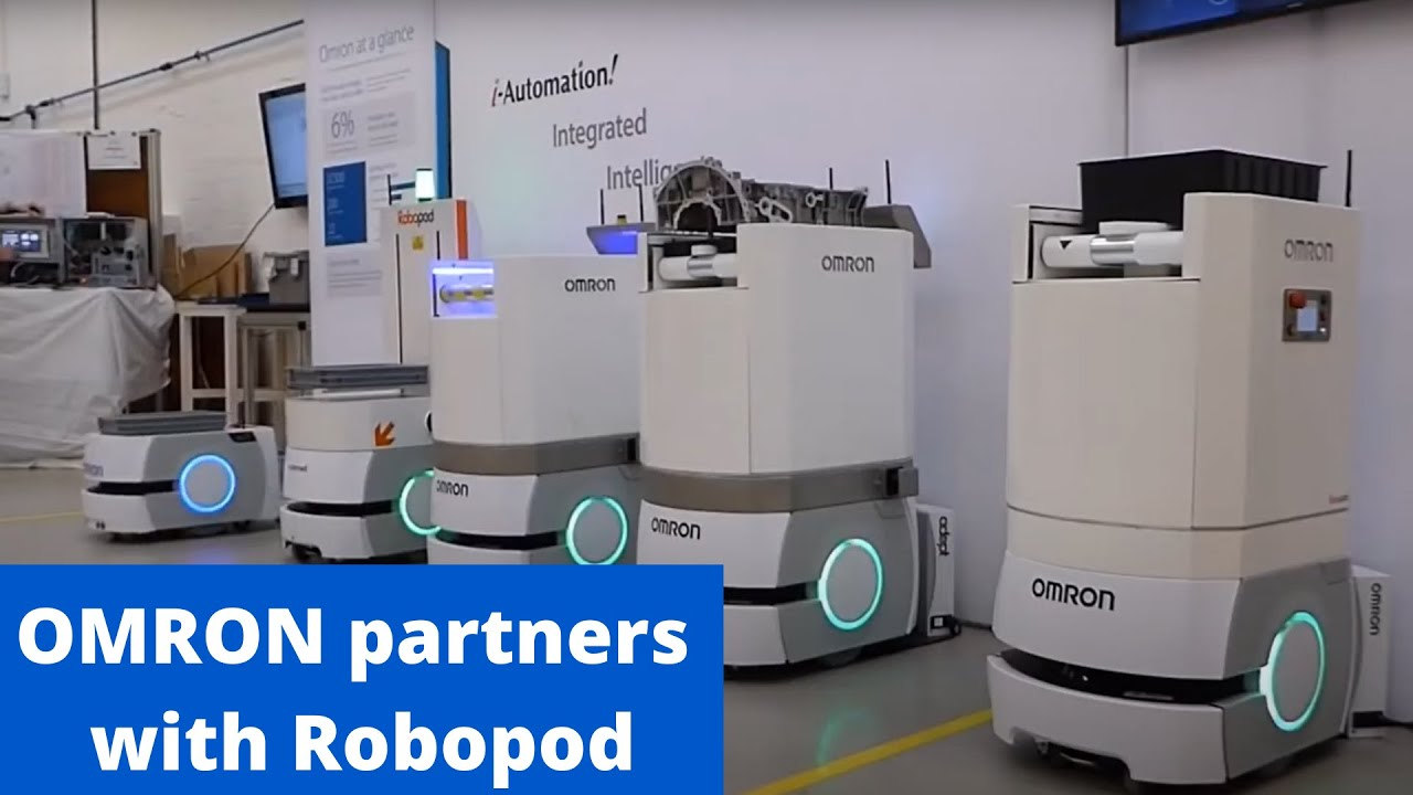 Robopod Amp Omron Ld Mobile Robot Open Day Youtube