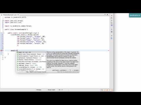 Java 8 Lambda Basics 23 - Introduction To Streams