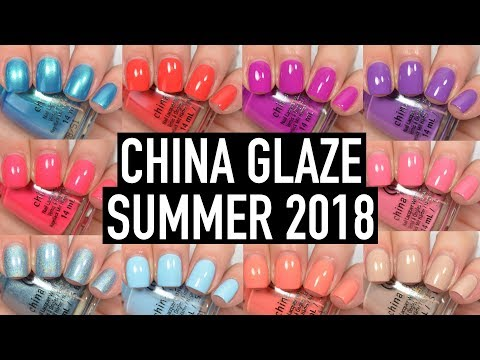 China Glaze - Shades of Paradise (Summer 2018) | Swatch and Review