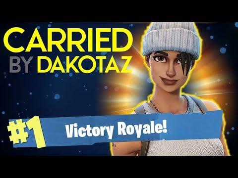 CARRIED BY DAKOTAZ!! - FORTNITE BATTLE ROYALE!! #10