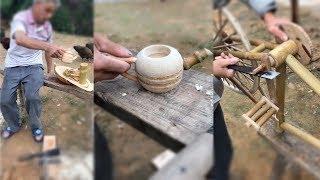 Gambar cover 5 Creative DIY Old man make furniture using Bamboo Primitive