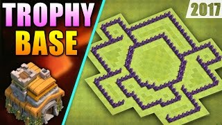 BEST TH7 TROPHY BASE 'REMASTERED' 2017 ♦ TOWN HALL 7 NEW BASE DESIGN | CLASH OF CLANS