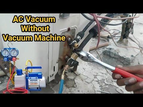 Repeat Air conditioner full system vacuum without vacuum