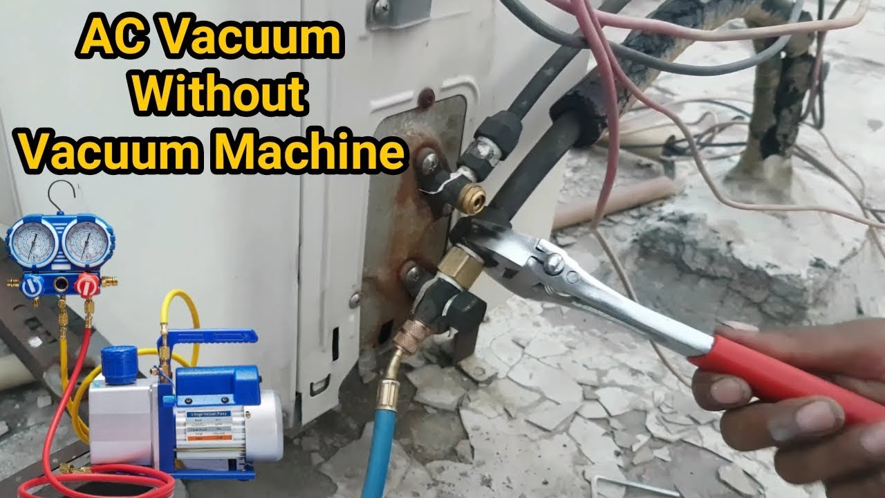 Air conditioner full system vacuum without vacuum machine trick in  Urdu/Hindi