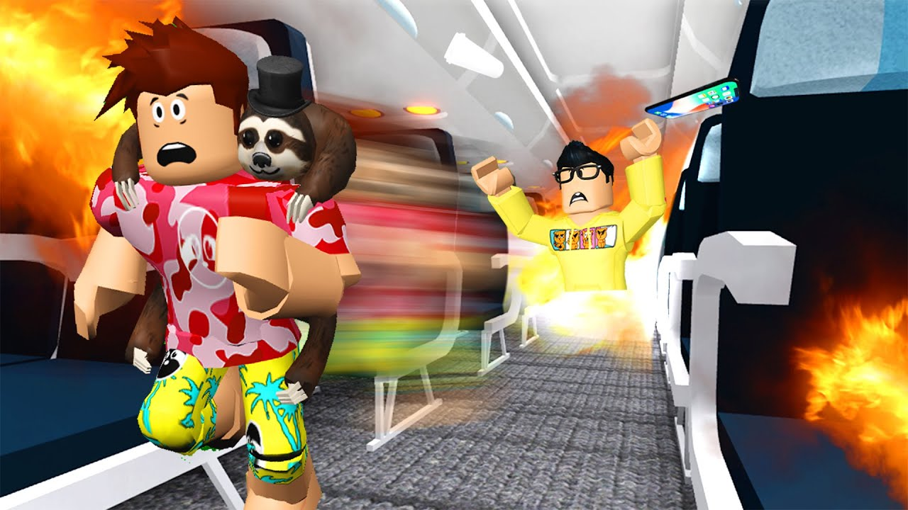 We Went On A Roblox FLIGHT.. NEVER AGAIN! thumbnail
