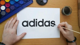 How to draw adidas logo