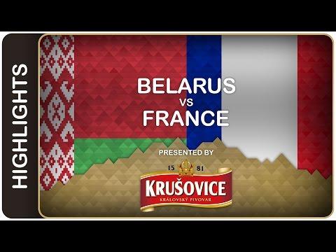 Stas helps Belarus to avoid relegation - Belarus-France HL - #IIHFWorlds 2016 - 동영상