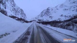 Truck has problem E134 in winter, dangerous Norwegian roads