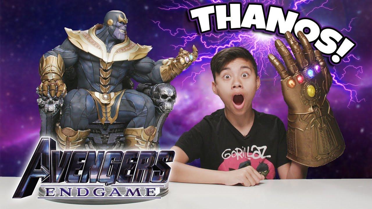 THANOS IS HERE!!! Countdown to Avengers Endgame! Giant Thanos on Throne!