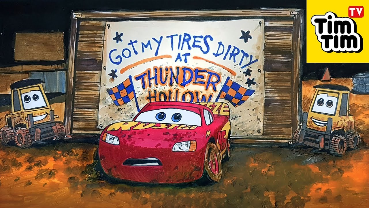 Draw and color Lightning McQueen