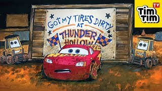 Draw and color Lightning McQueen in CARS 3 Thunder Hollow for Kids | Coloring Page 💡 Tim Tim TV