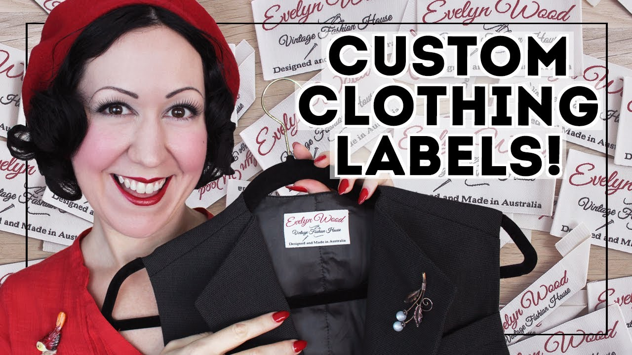WHAT LABELS TO GET?? How to pick the right type of custom clothing label to personalize your sewing!