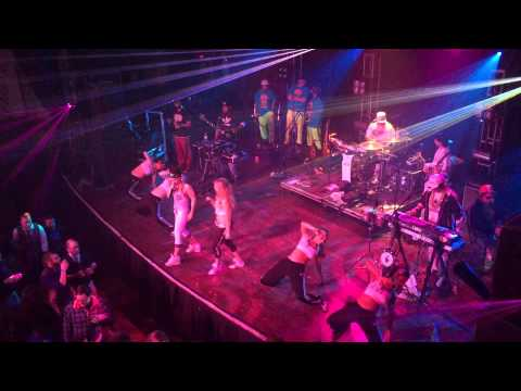 Too White Crew covering 'Push it' at the GrubHub holiday party at House of Blues 2014