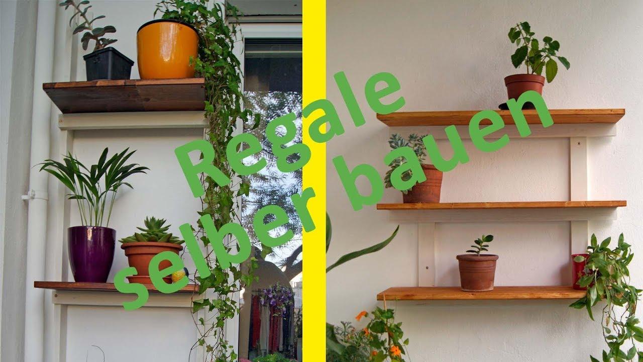 Regale Fur Den Balkon Selber Bauen Diy Youtube