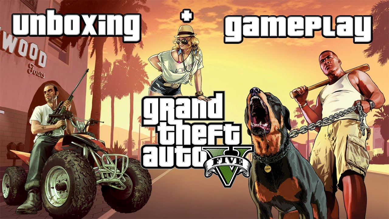 gta v xbox one unboxing and gameplay