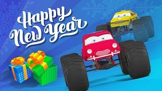Monster Truck New Year's Cartoon for Kids | Monster Truck Adventures | Special New Year's Episode