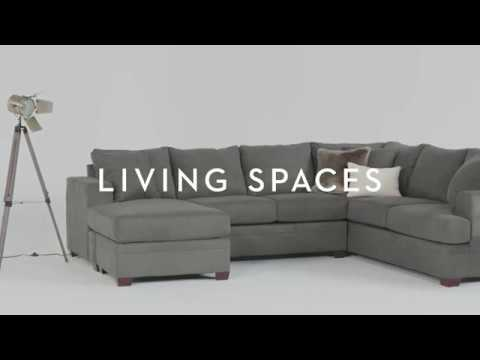 Kerri 2 Piece Sectional With Chaise  Living Spaces  Youtube