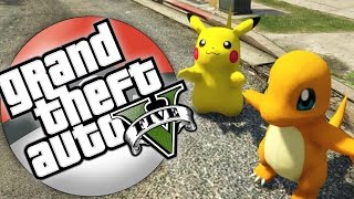 I WANNA BE THE VERY BEST! | GTA 5 Pokemon Go Mod #1