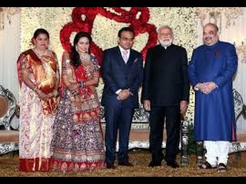 President Pranab Pm Modi Attend Wedding Reception Of Amit Shahs