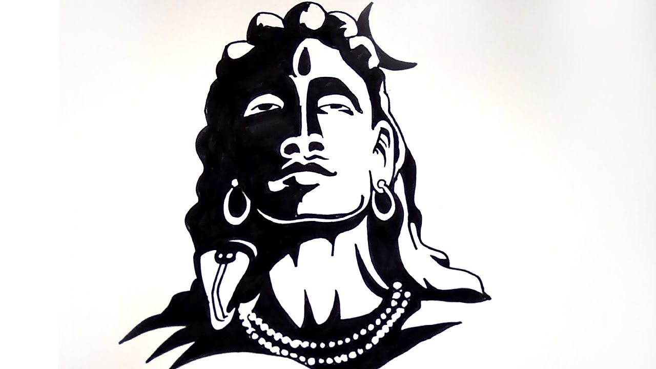 How To Draw A Sketch Of Lord Shiva Lord Shiva Drawing Step By