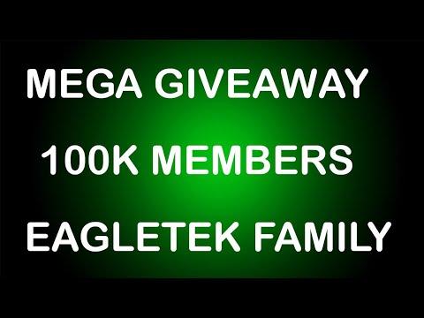 Mega Giveaway !! 100K Members Celebration !!