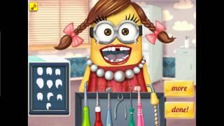 NEW мультик онлайн для девочек—Миньон наблюдается у стоматолога —Игры для детей