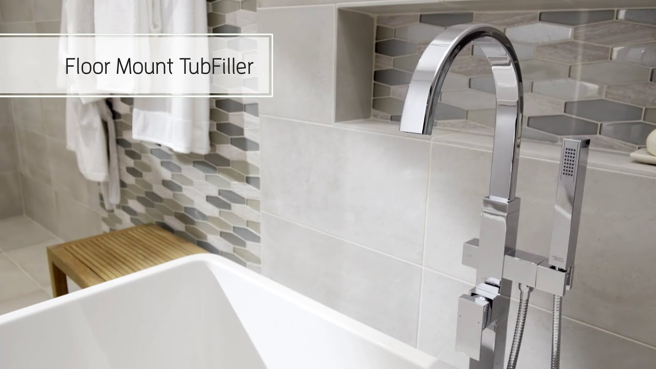How to Install the American Standard Freestanding Tub Faucet - YouTube
