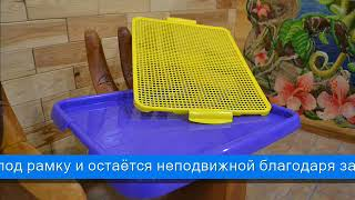 Foshan Туалет тренировочный для щенка с сеткой 54х41х3 см