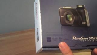 canon PowerShot SX230 HS Unboxing
